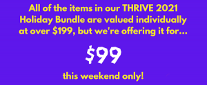 This weekend only, just $99