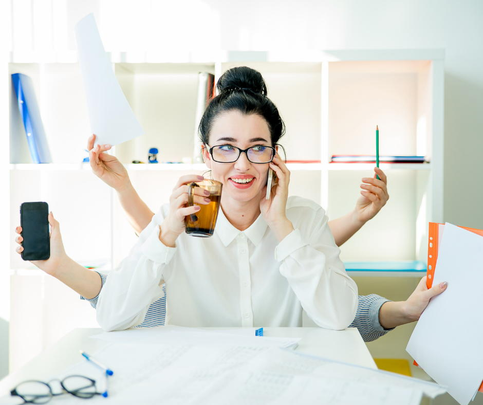 Woman happy and productive after taking PROPEL